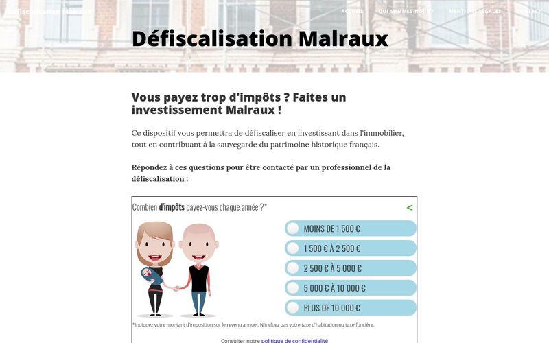 Des infos sur la défiscalisation Malraux